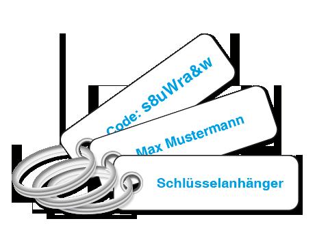 Schlüsselanhänger mit Drukc