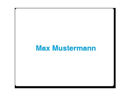Mousepad mit Individualisierung (Einzelnamen-Druck)