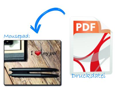 Mousepad aus Druckvorlage