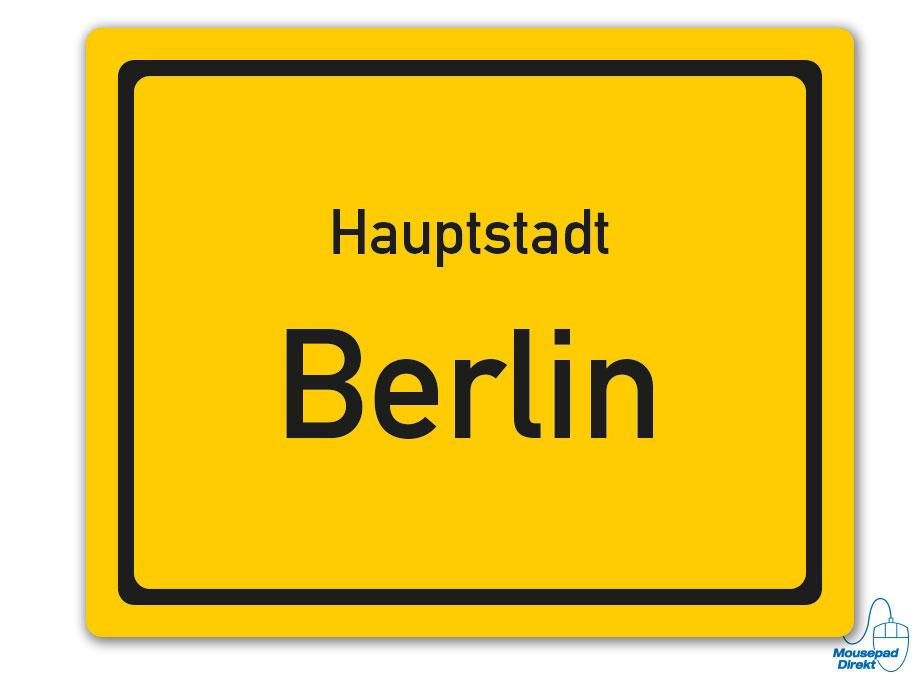 Ortsschild Hauptstadt Berlin Mousepad