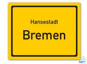 Ortsschild Hansestadt Bremen Mousepad