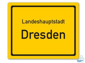 Ortsschild Landeshauptstadt Dresden Mousepad