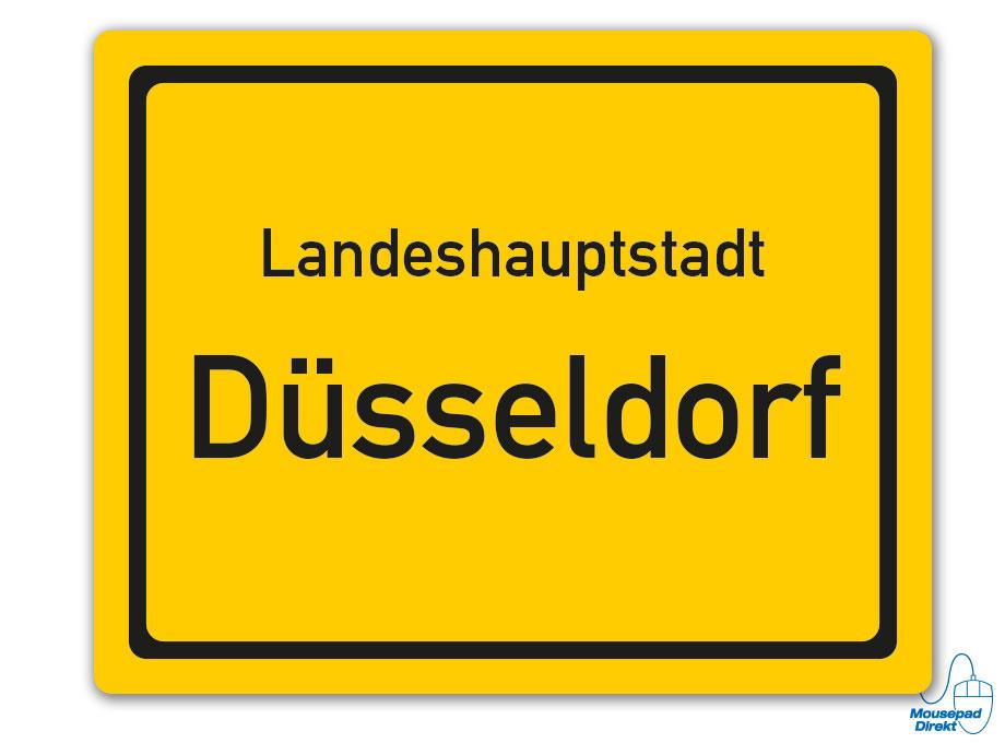Ortsschild Landeshauptstadt Düsseldorf Mousepad