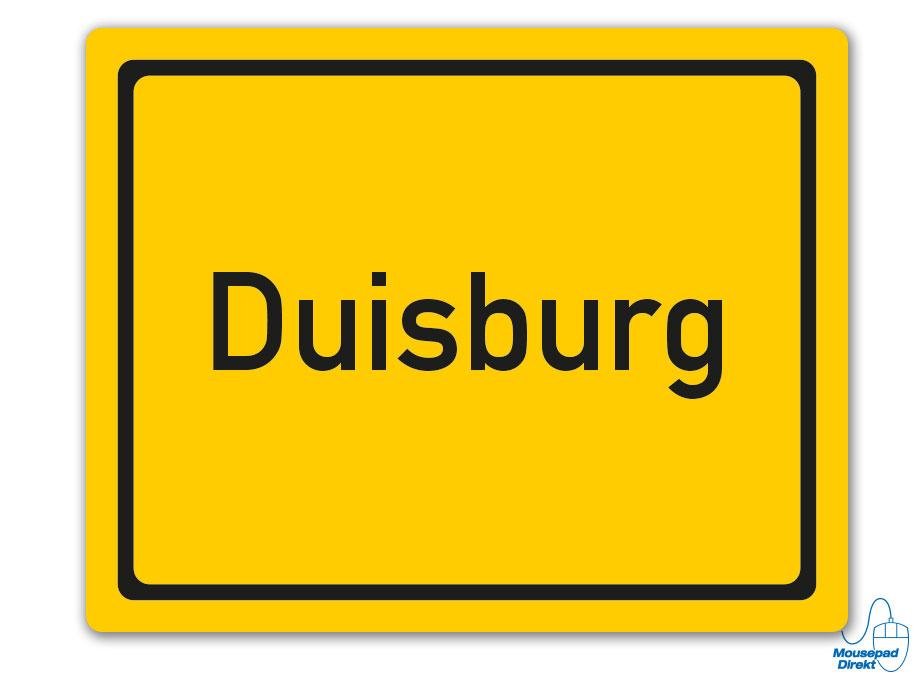 Ortsschild Duisburg Mousepad