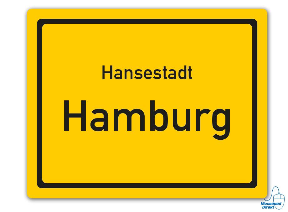 Ortsschild Hansestadt Hamburg Mousepad