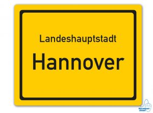 Ortsschild Landeshauptstadt Hannover Mousepad