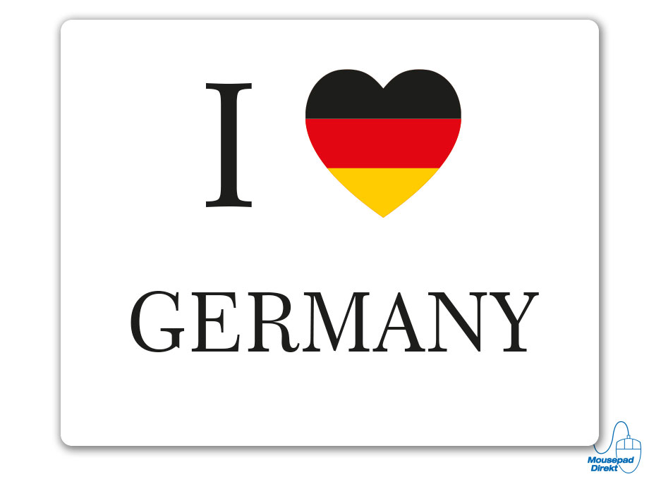 I love GERMANY Mousepad