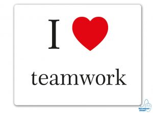 I love teamwork Mousepad