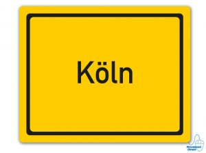 Ortsschild Köln Mousepad