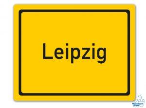 Ortsschild Leipzig Mousepad