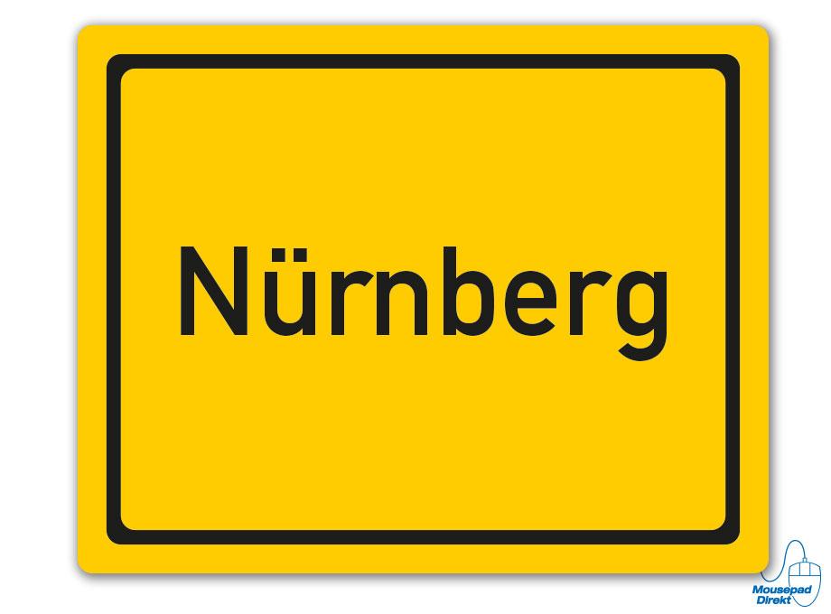 Ortsschild Nürnberg Mousepad