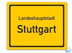 Ortsschild Landeshauptstadt Stuttgart Mousepad