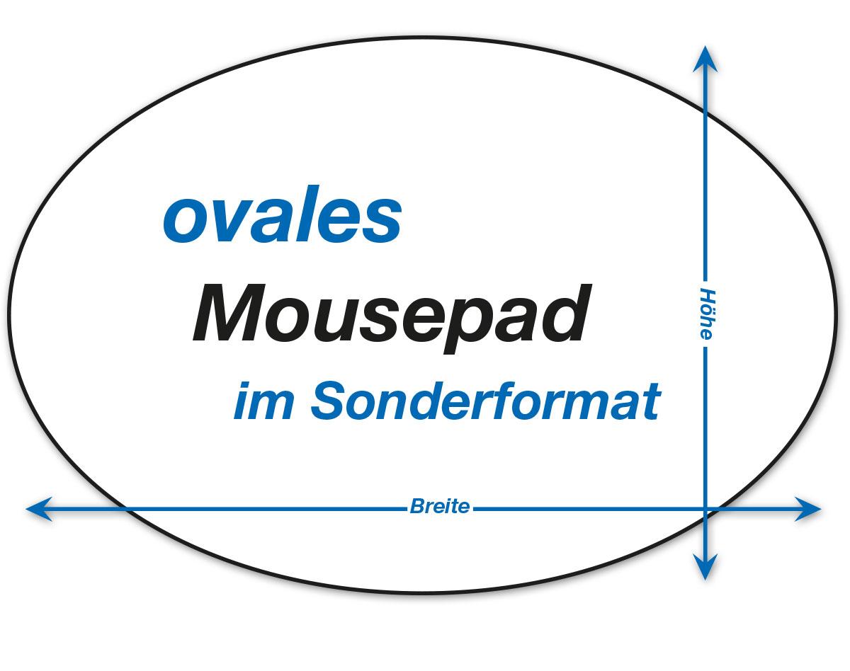 ovale Mousepads in Sondergröße
