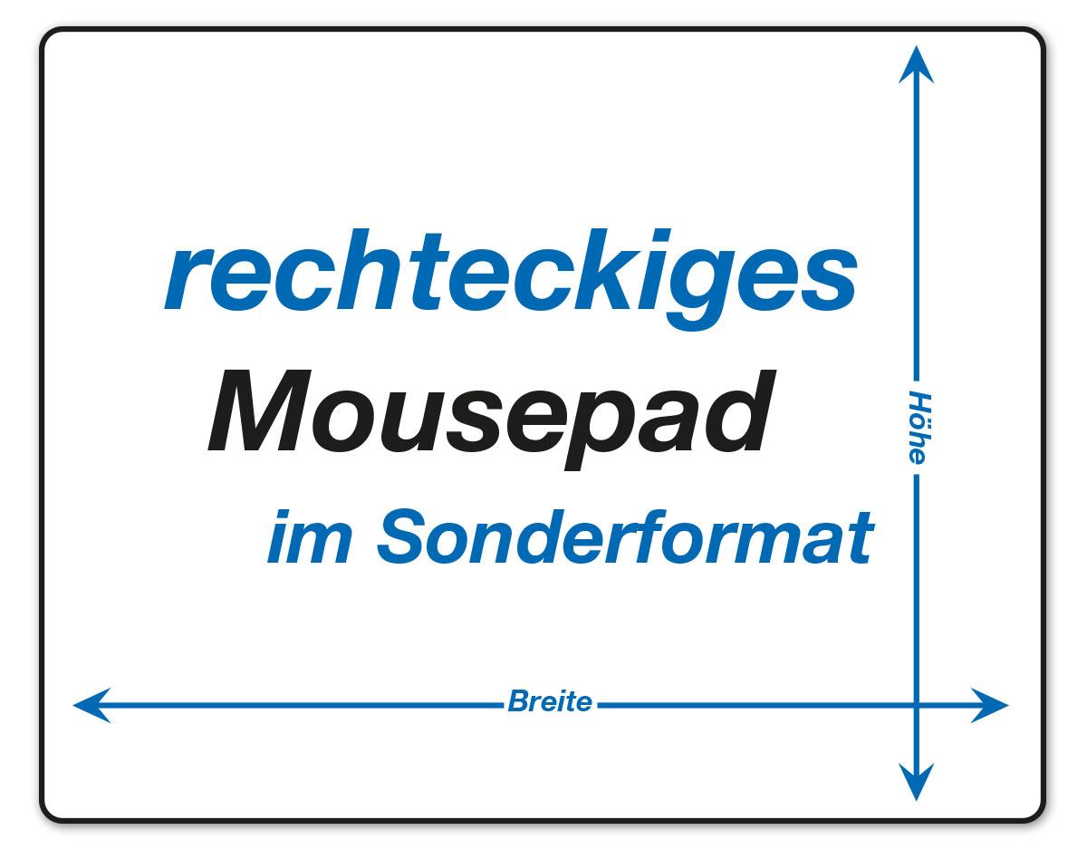 rechteckige Mousepads im Sonderformat