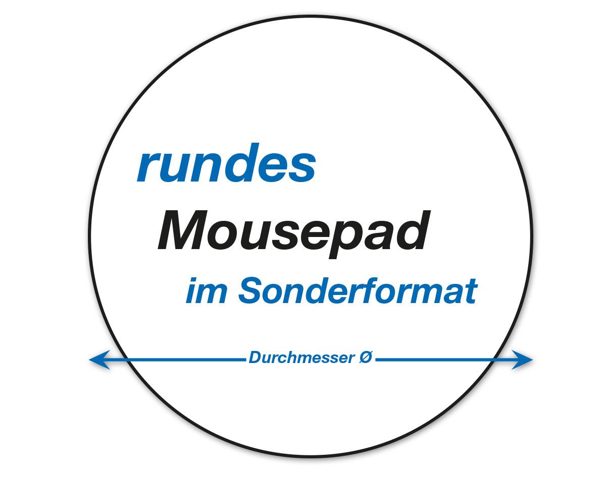 runde Mousepads im Sonderformat